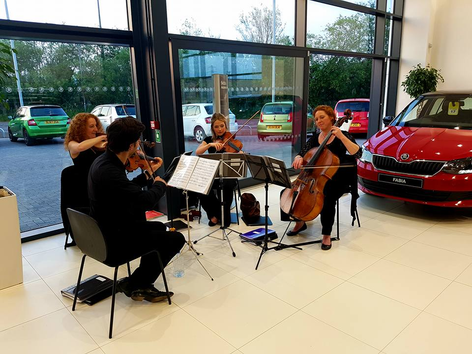 The Quartet performing for SKODA showroom launch